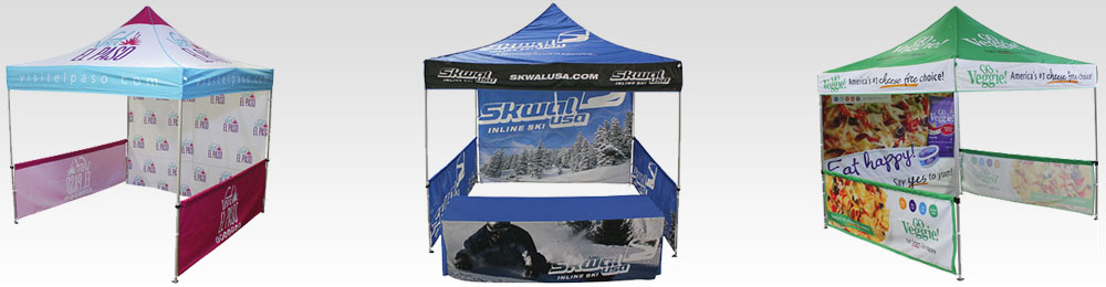 custom FastShade pop-up canopy tents