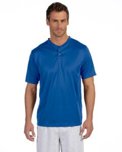 Augusta Adult Two-Button Wicking Baseball Jersey